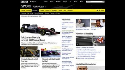 Edit Facility Hire BBC Formula One F1